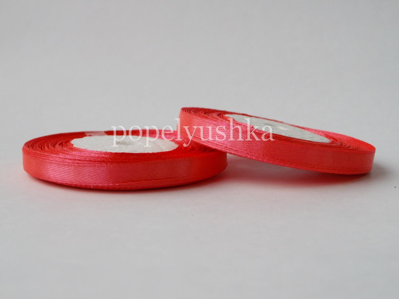Стрічка атласна 0,5 см насичено-рожева