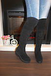 Сапоги ботфорты женские зимние натуральная замша С774, фото 5