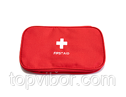 🔝 Домашняя аптечка-органайзер для хранения лекарств и таблеток First Aid Pouch Large Красный  | 🎁%🚚
