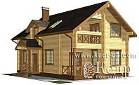 """Строительство 2-х этажного дома из дерева 179 м2 - проект дома-дачи """"Популярный 179"""""""