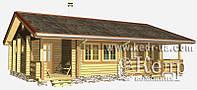 """Строительство одноэтажного дома из бруса 98 м2 - дачный дом для отдыха """"Индивидуальный 98"""""""