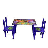 Столик M 0709 деревянный, 2 стульчика