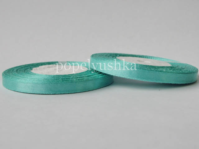 Стрічка атласна 0,5см світло-зелена