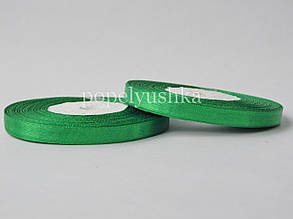 Стрічка атласна 0,5 см зелена