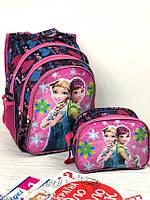 Портфель школьный для девочки рюкзак для школы Холодное сердце с мигалками