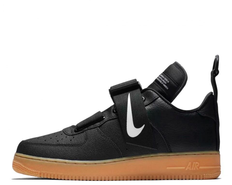 """Кроссовки Nike Air Force 1 Utility """" Black/Gum Medium Brown"""" Арт. 4211"""