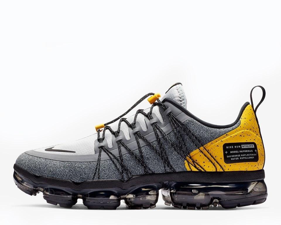 "Кроссовки Nike Air VaporMax Run Utility ""Grey/Yellow"" Арт. 4152"