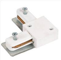 Переходник угловой для шин HOROZ Straight Connector 1fL Черный, Белый, Серебро
