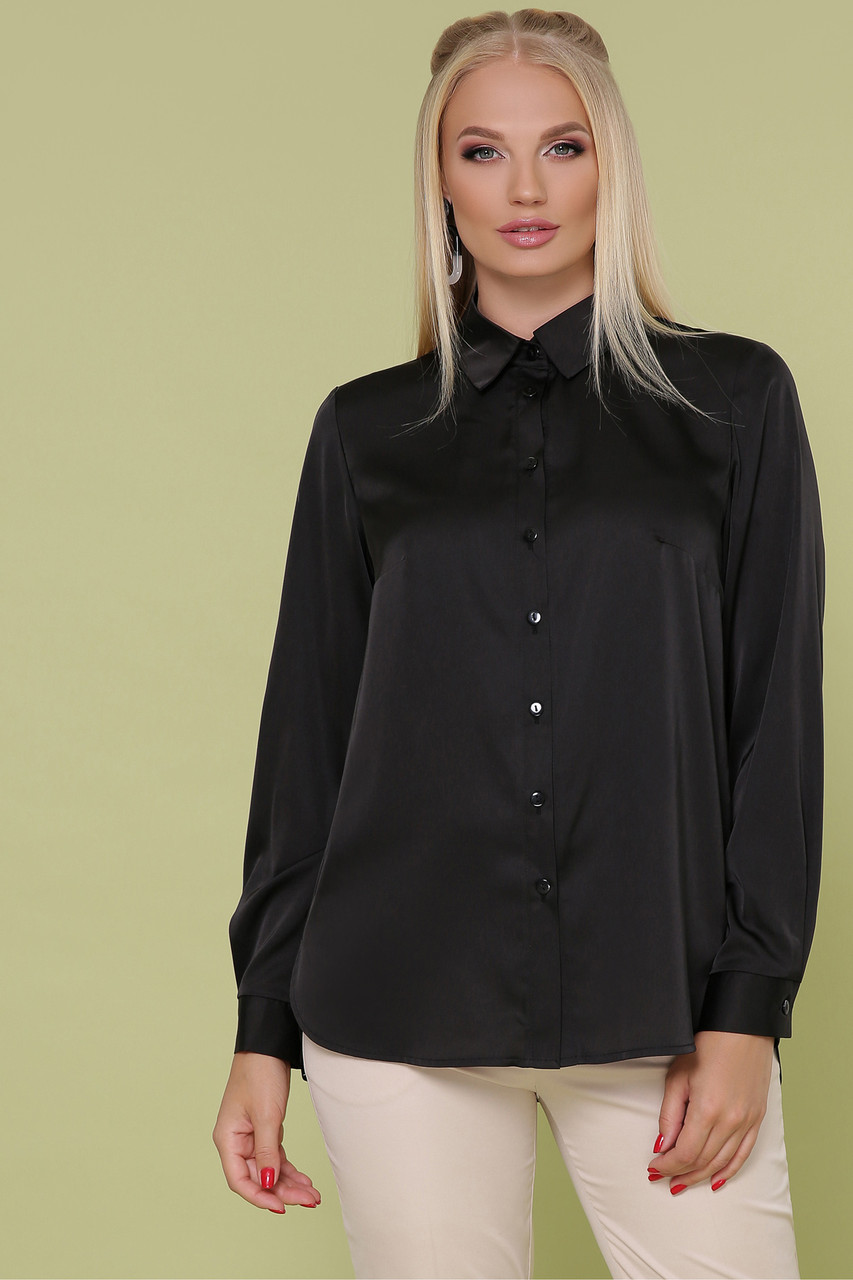 Женская блуза черная Таира-Б д/р