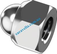 DIN 986, гайка шестигранная колпачковая из нержавейки с неметаллическим вкладышем