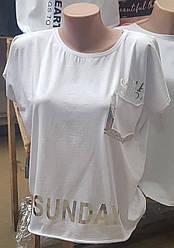 Женская футболка с нагрудным карманом