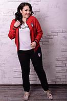 Модный молодёжный спортивный костюм батал с 48 по 74 размер