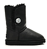 """Сапоги УГГИ замшевые UGG BAILEY BUTTON BOOT LEATHER BLING """"BLACK"""" Арт. 0352"""