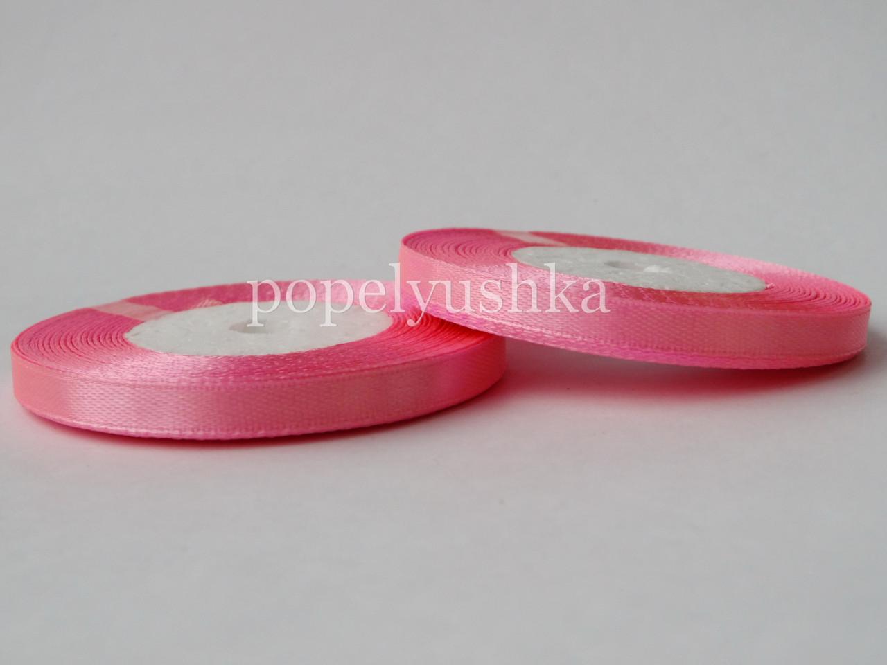 Стрічка атласна 0,5 см яскраво-рожева