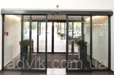 Автоматические раздвижные двери Geze Powerdrive PL
