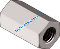 DIN 6334, гайка шестигранная удлинённая соединительная 3d из нержавеющей стали