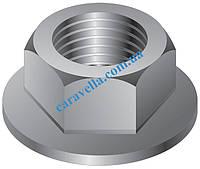 DIN 6923, гайка шестигранная с зубчатым фланцем из нержавеющей стали