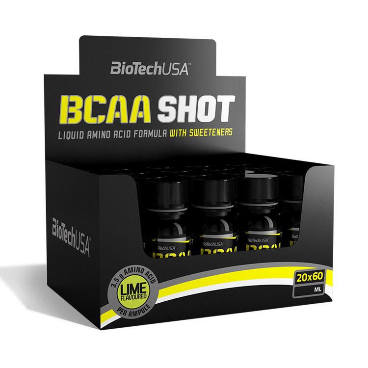 Аминокислота BCAA Shot zero carb (20*60 ml, lime) BioTech