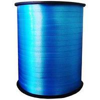 Лента бобиной для воздушных шаров . Лента синяя 5мм*300м