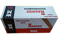 Сигаретные Гильзы с Фильтром 24 мм  Magnus Extra Long Filter 500 штук (Удлиненный Фильтр))