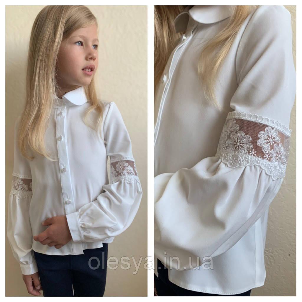 Блуза школьная нарядная «Daisy» тм Brilliant.  Размеры 116- 146