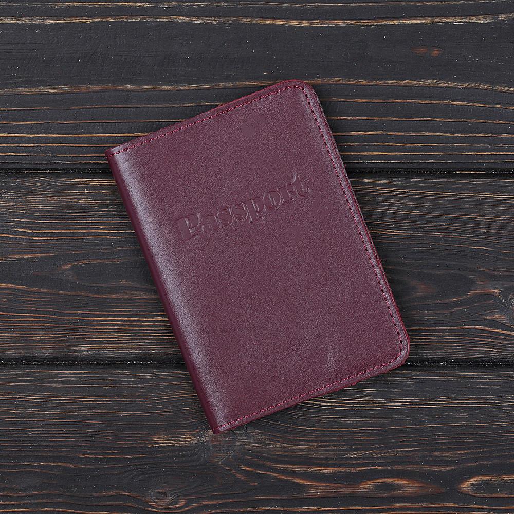 Обложка на паспорт v.1.0. Fisher Gifts BUSSINES вишня (кожа)