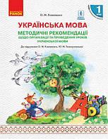 Українська мова 1 кл  Методичні рекомендації ( Коваленко)
