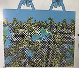 Сарафан  парео трансформер бирюзовый в белый и чёрный горох, фото 3