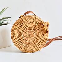 Женская плетеная ротанговая сумка Bali bag, фото 1