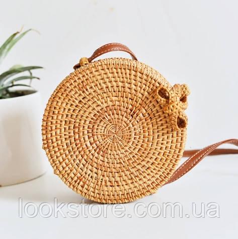 Женская плетеная ротанговая сумка Bali bag