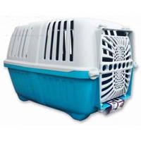 Переноска для кішок і собак PRATIKO 1 PLASTIC, 48х31,5х33 см MPS блакитний