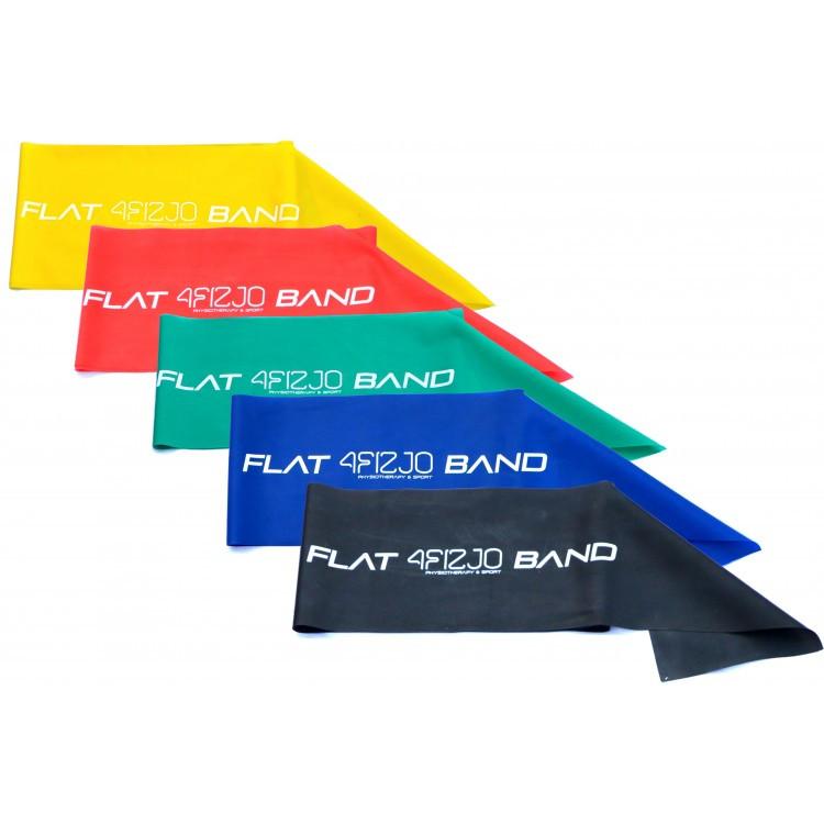 Фитнес-ленты для фитнеса, спорта и тренирвок (лента-эспандер) 4FIZJO Flat Band 200 см (набор -  5 шт.)