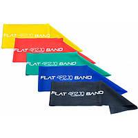 Фитнес-ленты для фитнеса, спорта и тренирвок (лента-эспандер) 4FIZJO Flat Band 200 см (набор -  5 шт.), фото 1