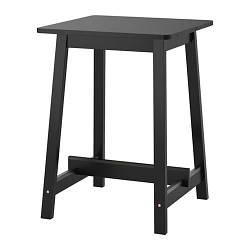 ИКЕА (IKEA) НОРРОКЕР, 403.390.04, Барный стол, черный, 74x74 см