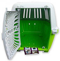 Переноска для кішок і собак PRATIKO 1 PLASTIC, 48х31,5х33 см MPS зелений