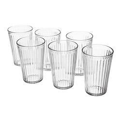 ИКЕА (IKEA) ВАРДАГЕН, 703.131.06, Стакан, прозрачное стекло, 43 сл