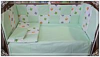 Защита,ограждение,бортики,бампер +постельное белье в детскую кроватку. Захист в дитяче ліжечко.