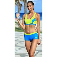 Раздельный женский купальник спортивный Aqua Speed Fiona (original), с топом и шортами для бассейна