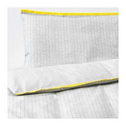 ИКЕА (IKEA) KLÄMMIG, 203.731.93, Детский комплект постельного белья, 3 шт., серый, 60x120 см