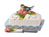 Масленка Lefard Птица в цветах 15см  59-448