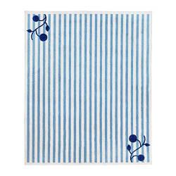 ИКЕА (IKEA) GULSPARV, 704.270.99, Ковер, в синие полосы, белый, 133x160 см