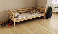 """Кровать детская подростковая деревянная """"Хюго"""" 80*160 размеры дерево массив бук, фото 1"""