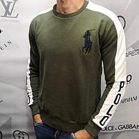 Свитшот мужской Polo Ralph Lauren D7598 темно-зеленый