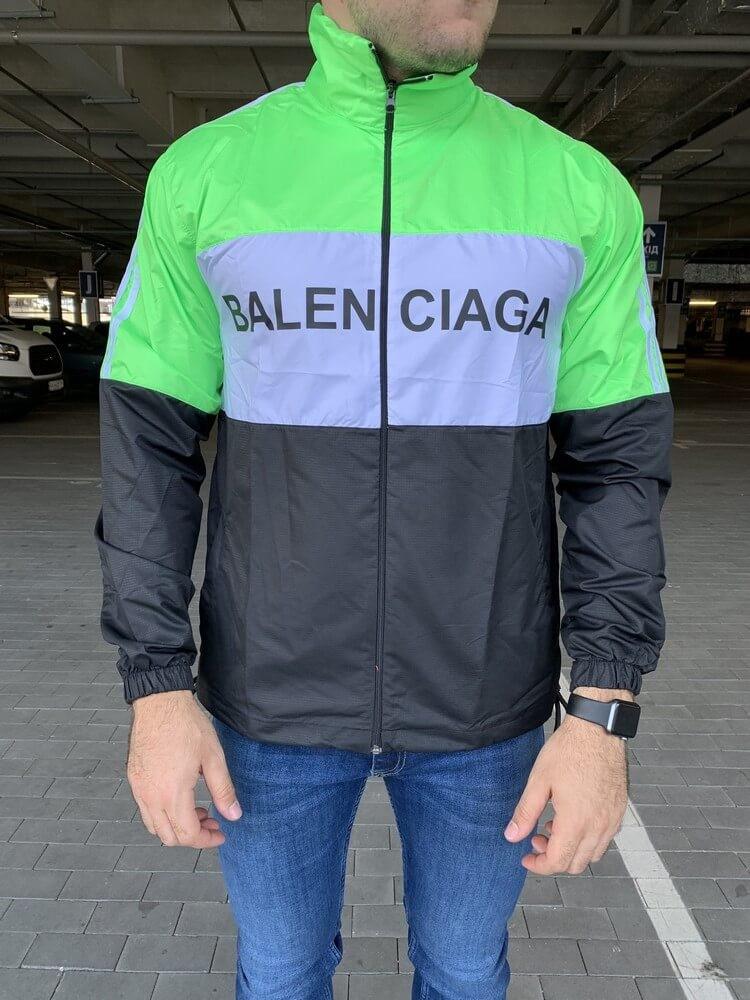 Футболка мужская Balenciaga 20201 зелено-черная