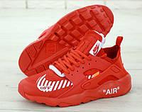 Кроссовки мужские Nike Huarache x OFF-White 31327 красные