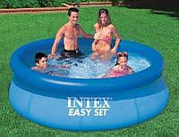 INTEX бассейн 28110 (56970) 244*76 см наливной семейный EASY SET технология SUPER-TOUCH