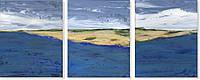 Репродукция модульной картины современной мировой живописи «Берег» 100 х 250 см