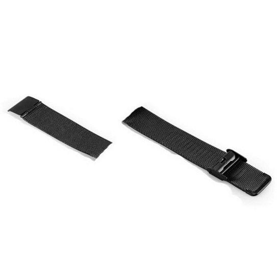 Сменный ремешок для фитнес браслета Lemfo V11 (Металлический, Черный)