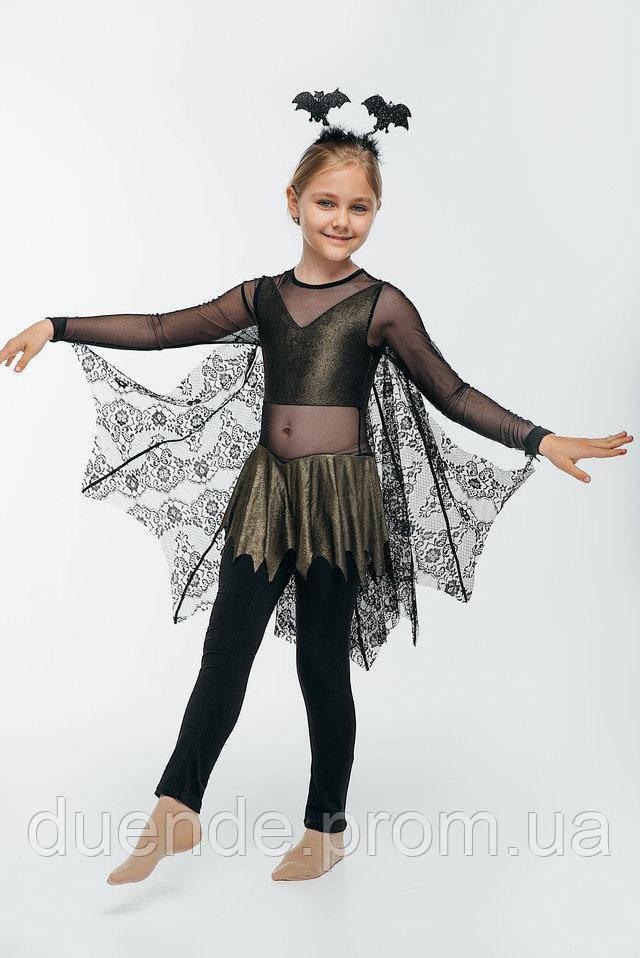 Летучая мышь карнавальный костюм для девочки \ размер 122-128 \ BL - ДС203