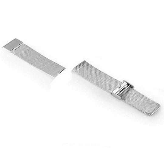 Сменный ремешок для фитнес браслета Lemfo V11 (Металлический, Серебряный)